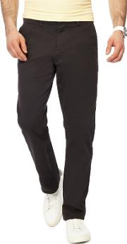 Dark Grey Straight Fit Chinos