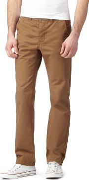 Dark Tan Slim Fit Chinos