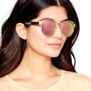 Gold And Transparent Two Tone Sunglasses