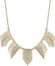 Gold Chain Fan Necklace