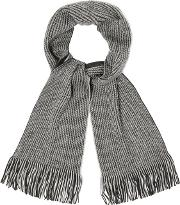 Grey Reversible Twisted Scarf
