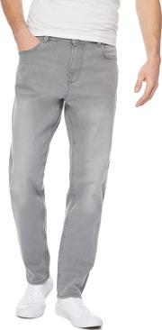 Grey Tapered Fit Jeans