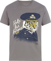 Help For Heroes Khaki help For Heroes Tiger Print T Shirt