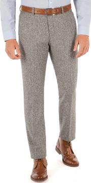 Light Grey Donegal Look Trousers