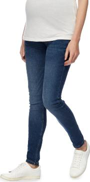 Blue Maternity Over The Bump Skinny Jeans