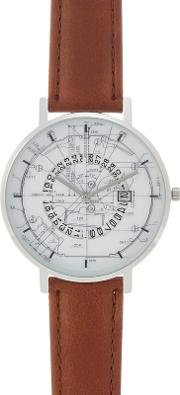 Mens Brown Analogue Watch