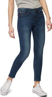 Mid Blue holly Skinny Ankle Grazer Jeans