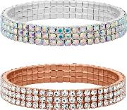 Mixed Plate Clear Multipack Stretch Bracelet