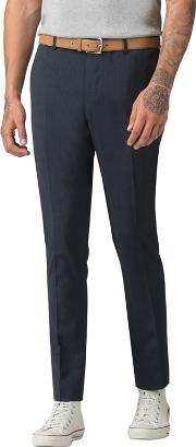 f8551968eec08a Navy Gingham Skinny Fit Formal Trousers. red herring