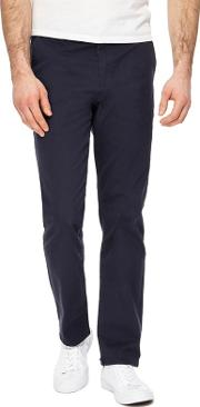 Navy Straight Leg Chinos