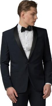Navy Tuxedo Slim Fit Jacket