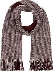 Wine Reversible Twist Knit Scarf