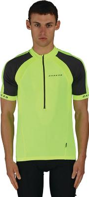 Dare 2b Yellow Outstart Cycle Jersey Top