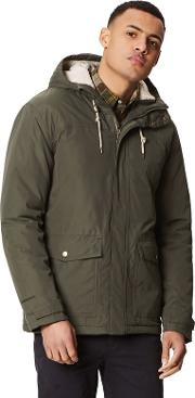 Green syrus Insulated Hooded Waterproof Jacket