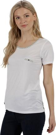 White alaina Jersey Top