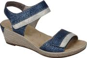 Blue tote Wedge Sandals
