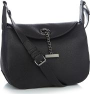 Black Chain Bar Cross Body Bag