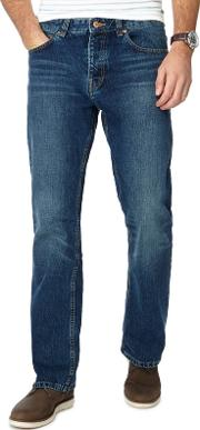 Blue Mid Wash Bootcut Jeans