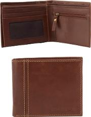 Brown Leather Wallet In A Gift Box