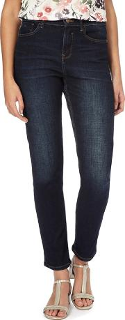 Dark Blue Dark Wash brooke Slim Fit High Waist Jeans