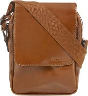 Designer Tan Leather Cross Body Bag