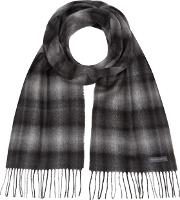 Grey Checked Scarf