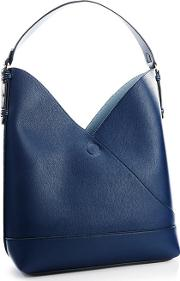 Navy Faux Leather Wrap Hobo Bag