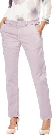 Pink Slim Tapered Fit Chinos