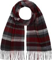 Red Block Checked Scarf
