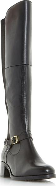 Black tierny Buckle Strap Over The Knee Boots