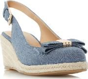Blue karma Slingback Espadrille Wedge Shoes