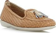 Tan greenwich Comfort Tassel Detail Woven Loafer Shoes