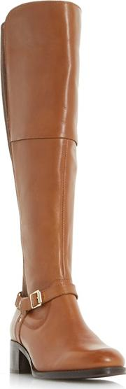 Tan tierny Buckle Strap Over The Knee Boots