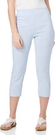 Light Blue Bengaline Cropped Trousers