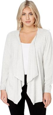 Light Grey Waterfall Knitted Cardigan