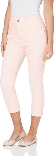 Light Pink Cropped Jeans