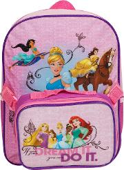 Princess Junior Backpack With Lunch Bag