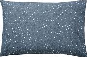 Dark Blue Cotton  Home paper Doves Standard Pillow Cases