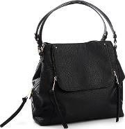 Nine By  Miller Black Faux Leather sienna Hobo Bag