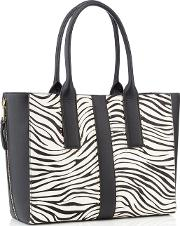 Nine By  Miller Multicoloured Zebra evie Large Shopper Bag