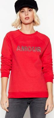 Nine By  Miller Red amour Sweatshirt