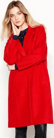 Nine By  Miller Red Boucle Coat