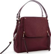 Nine By  Miller Wine Red Faux Leather sienna Hobo Bag
