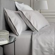 Pale Grey 1000 Thread Count Cotton Sateen Square Pillow Case