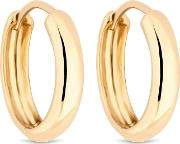 12ct Gold Plated Sterling Silver Yellow 15mm Hoop Earrings