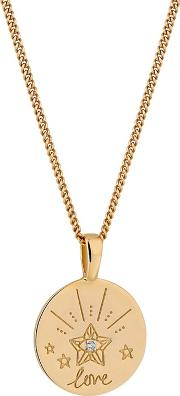 12ct Gold Plated Sterling Silver Yellow Cubic Zirconia Mystic Short Pendant Necklace