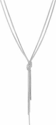 Sterling Silver Knot Lariat Necklace