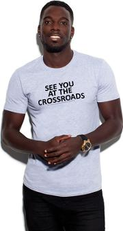 Marcel see You At The Crossroads Grey Cotton T Shirt