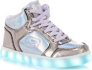 Silver energy Lights Light Up High Top Trainers