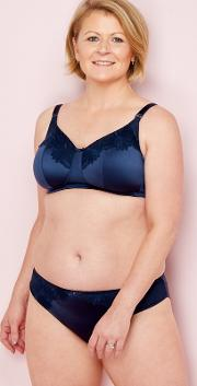 Navy Lace Non Wired Non Padded Post Surgery Bra